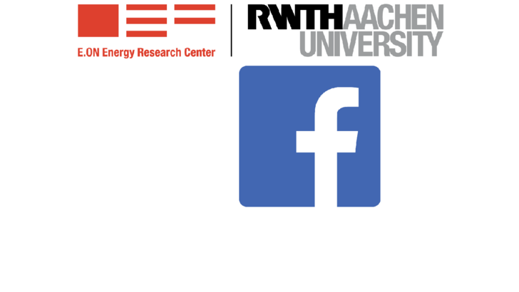 Logos E.ON ERC und Facebook