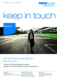 "Titelblatt des Magazins ""keep in touch"""